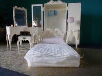 Vintage Sindy doll bedroom furniture Wardrobe,dressing table and stool,bed,bedside table with lamp