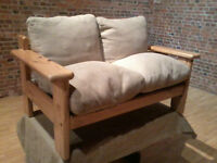 Solid Pine 'Two Seater' Sofa - *Free Local Delivery