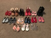 15 pairs of girls 5 and 6 shoes