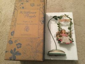 Wildflower Angels strawberries angel with stand ornament