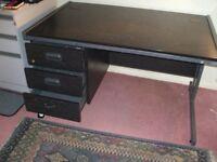 Black Wooden Desk - modern design