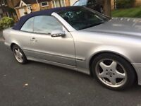 Mercedes Benz Clk 320 convertible petrol silver fully loaded