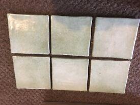 Wall tiles - Italian hand made. Surplus design project 10cm x 10cm (4 x4 inch)