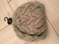 Next new olive green chunky pull on hat