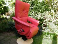 Himolla Electric Dual Motor Riser Recliner Chair in Red