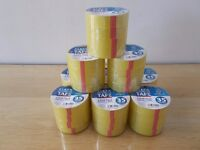4 X ROLLS CLEAR STATIONERY PACKING TAPE CELLOTAPE SELLOTAPE 22mm x 35m