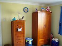 Cosatto Nursery wardrobe x2, tallboy & changing table