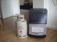Valor portable calor gas heater complete with gas bottle