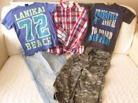 SELECTION OF BOYS DESIGNER CLOTHES AGE 9-10(H & M, Red Herring, Next)