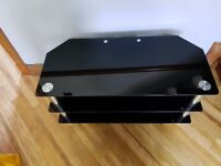 Small Black Glass TV Stand