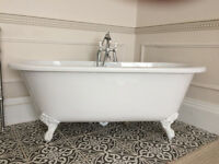 Roll top bath pale grey outer