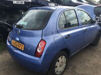 NISSAN MICRA S 2003- FOR PARTS ONLY