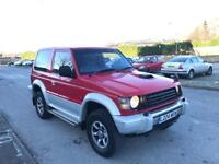 1994 L MITSUBISHI PAJERO 2.8 TD SWB AUTO RED/SILVER WINTER PACK TOP SPEC BARGAIN DIESEL SHOGUN