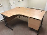 Office desk with built in drawers