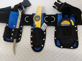 Scaffolding Tool Set Belt - Naylon Padded 5 Pcs - With 3pcs Tools 19/21 Spanner