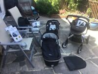 Graco Symbio Stroller; pushchair pram bed cot car seat buggy; Complete set