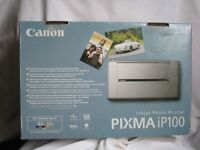 Canon Pixma IP100 A4 Portable Colour InkJet Printer