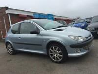 PEUGEOT 206 GTI **EXCELLENT DRIVE** NO ADVISORIES ON LAST 2 MOTS *ALLOY WHEELS* HALF LEATHER