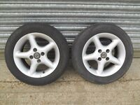 Mazda MX5 TSW Alloy Wheels x2 With Tyres