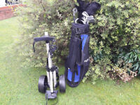 Daytona Titanium Complete Golf Clubs Set + Daytona Club Bag + Slazenger Caddy Putter 5 3 1 Wood Iron
