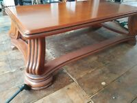 Unusual Coffee Table - Solid Wood (not MDF) Ornate Markings and Very Strong