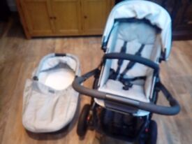 BRITAX SMILE 0-3yrs BUGGY PRAM STROLLER WITH CARRYCOT *LOOKS NEW*