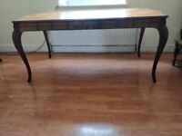 Beautiful extendable dining table inlaid mahogany