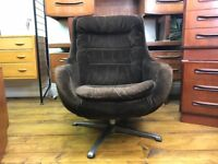 Retro Egg Chair - vintage swivel armchair mid century g plan ercol greaves and thomas