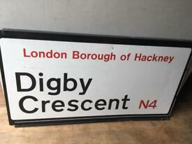 Digby crescent road sign double sided