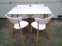 New Dining table & 4 Unused chairs. 2 tone. Bargain Can deliver.