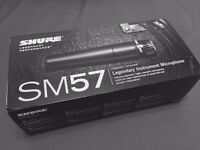 Unopened Shure SM57 Microphone
