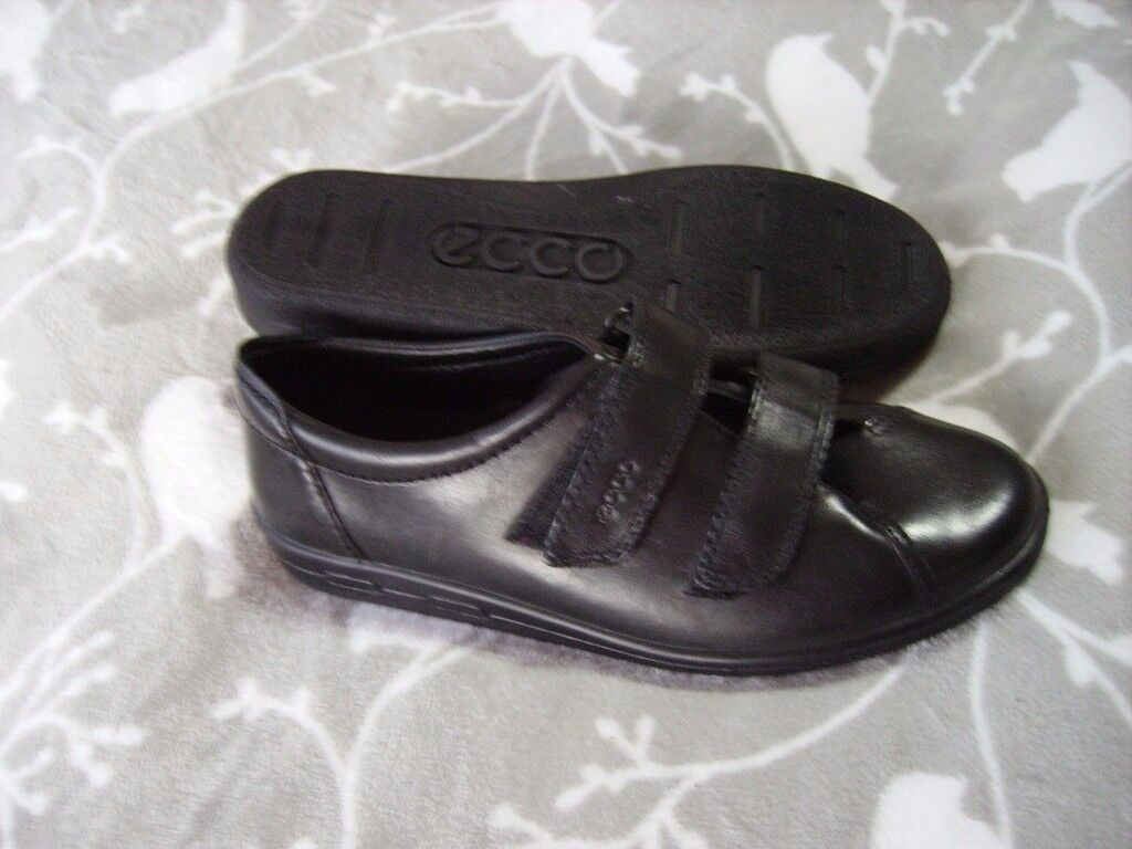 HOTTER ECCO PADDERS LEATHER SHOES SIZE 5.5 - 6