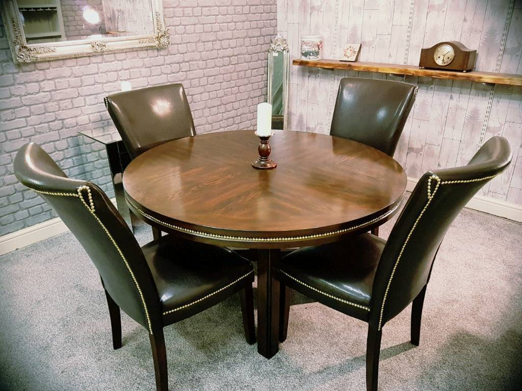 Greyson Living Solid Oak Dining Table 4 Chairs