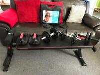 Gym bench weights and equipment