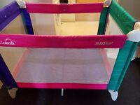 Travel cot in excellent new condition.1mx70cm.GRACO.