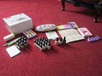 complete large set of gel nail polishes and uv dryer BARGAIN
