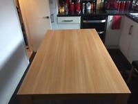 Oak Finish Dining Table