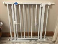 Stair gate with extension