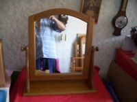 Pine Table Mirror 60 cm high