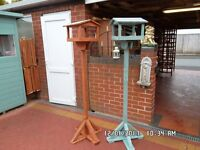 bird table £20 and nest boxes £2.00