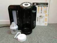 Tommee Tippee prep machine bottle black with unopened bottle