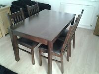 John Lewis Dark Wood Extendable Dining Table and Dining Chairs * Immaculate Condition *