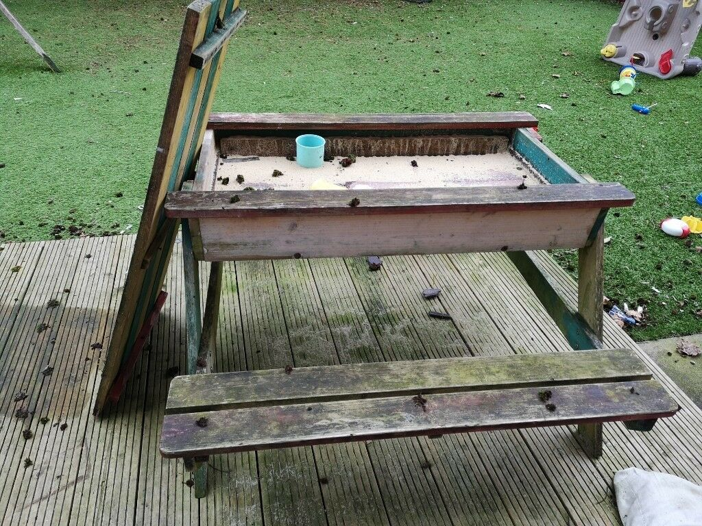 Phenomenal Free Wooden Sandpit Bench With Lid In Norwich Norfolk Pabps2019 Chair Design Images Pabps2019Com