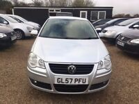 VOLKSWAGEN POLO 1.4 MATCH HATCHBACK 3DR 2007* EXCELLENT LOW MILEAGE CAR*FULL SERVICE HIST*HPI CLEAR