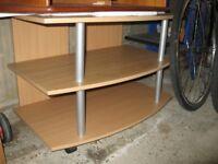 3 tier TV Cabinet / Unit / Stand / modern- Veneer beech looking