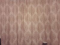 PAIR OF COLOROLL 90 X 90 FINIAL DESIGNED SPRING SUMMER LIGHTWEIGHT LINED CURTAINS ONLY 6 MONTHS OLD