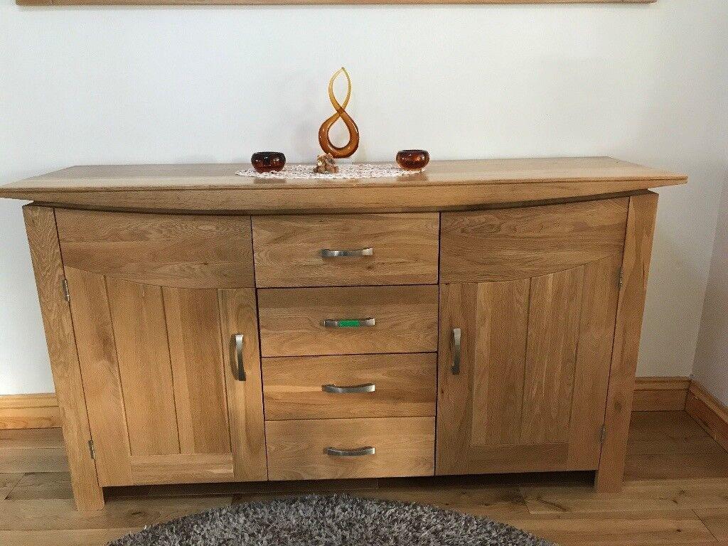Tokyo oak solid sideboard,wall mirror and solid oak coffee table