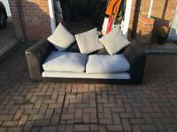 Sofa - Grey & Black