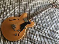1997 Epiphone Rivoli Reissue Short Scale Semi Hollowbody Bass with hardcase