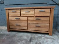 Ex Display Di Marco Oak 3+4 Fully Assembled Chest of Drawers (Was £669)